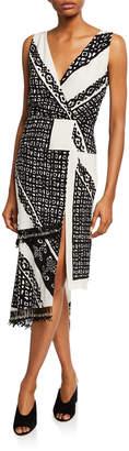 Altuzarra Pavilion Sleeveless Bandana-Print Silk Midi Dress