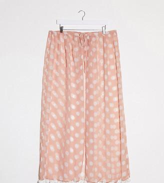 Brave Soul Plus printed beach skirt with tie waist