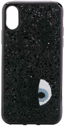 Chiara Ferragni Kids eye sequined iPhone X/XS case
