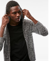 Express space dyed zip front hoodie sweater
