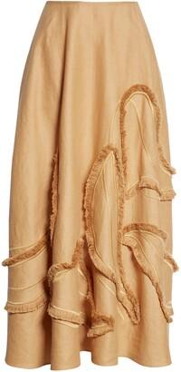 Lafayette 148 New York Helena Fringe Linen Skirt