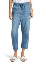 Vince Women's Cotton & Linen Denim Drawstring Workwear Trousers