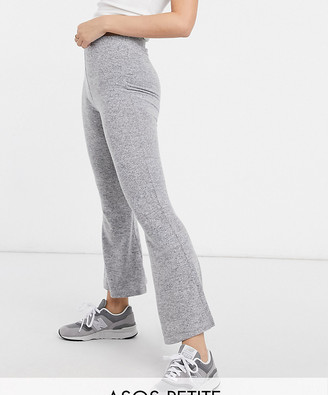 ASOS DESIGN Petite Supersoft Flare in grey marl