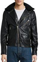 Rag & Bone Buzz Shearling Collar Leather Jacket