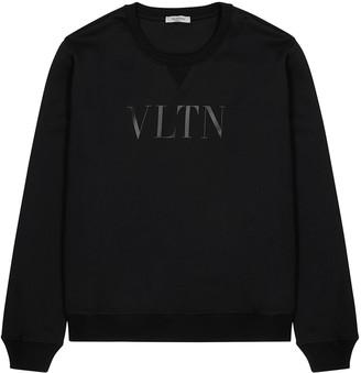 Valentino VLTN Black Cotton-blend Sweatshirt