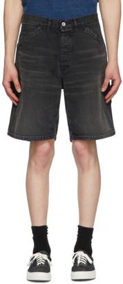 Neighborhood Black Denim Washed C-ST Utility Shorts
