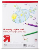 up & up 9x12 Drawing Paper Pad - 40ct Medium Weight
