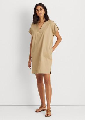 Ralph Lauren Stretch Cotton Shift Dress