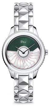Christian Dior VIII Grand Bal Limited-Edition Montaigne Diamond, Alligator& Stainless Steel Automatic Wat
