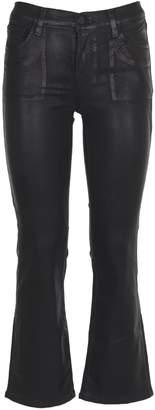 J Brand Black Shiny Flaire Jeans