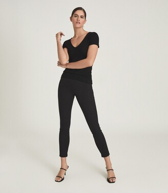 Reiss TYNE SKINNY TROUSERS Black
