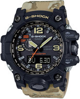 G-Shock Men's Analog-Digital Mudmaster Beige Camo Resin Strap Watch 59x56mm GWG1000DC1A5