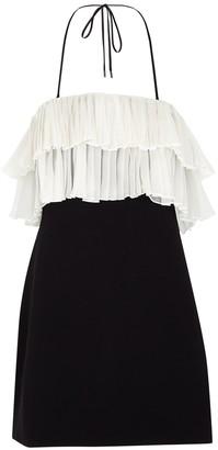 Alexis Bani Black Layered Mini Dress