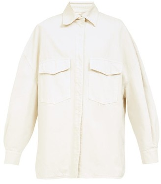 ATTICO Oversized Denim Overshirt - Cream