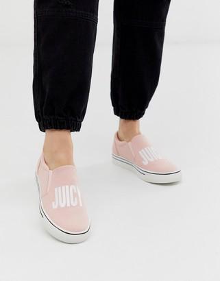 Juicy Couture logo slip on sneaker in pink