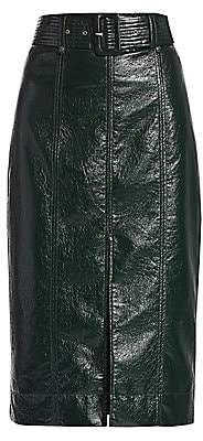 Tanya Taylor Women's Veronica Faux Leather Pencil Skirt - Size 0