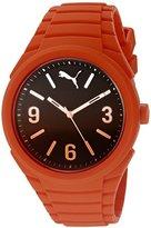 Puma Unisex PU103592011 Gummy fading orange Analog Display Watch