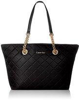 Calvin Klein Quilted Nylon Chain Tote Bag