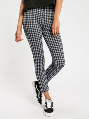 Stussy Dixon Slim Check Pants in Black