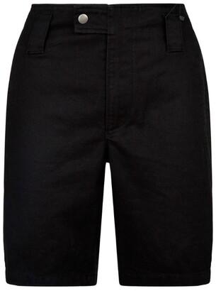Saint Laurent Wide-Leg Denim Shorts