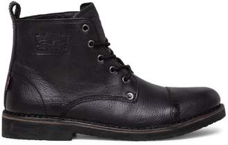 Levi's Track Lace-Up Leather Ankle Boots