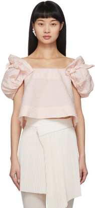 SHUSHU/TONG Pink Bow Blouse
