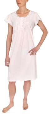 Miss Elaine Flutter-Sleeve Nightgown