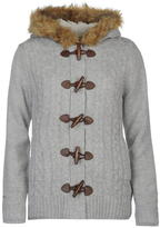 Soul Cal SoulCal Toggle Lined Knitted Ladies Hoodie