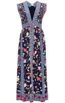 Rebecca Taylor Sleeveless Tapestry Garden Midi Dress