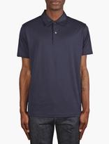 Sunspel Navy Jersey Polo Shirt