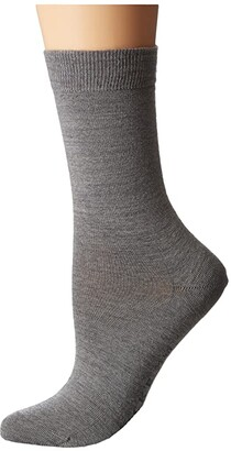 Falke Soft Merino Sock (Black) Women's Crew Cut Socks Shoes