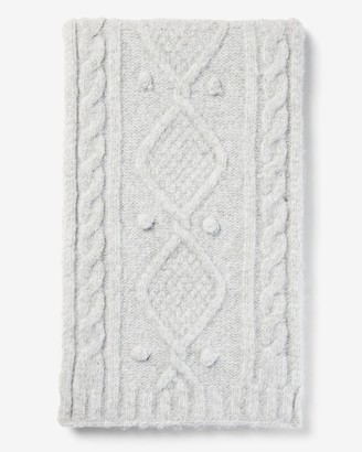 Express Cozy Cable Knit Oblong Scarf