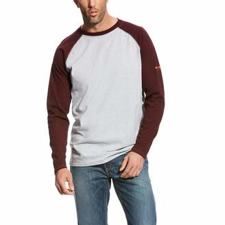 Ariat Men's Flame Resistant Baseball TeeWork Utility Tee Shirt