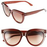 Valentino Women&s Rockstud Cat Eye Sunglasses