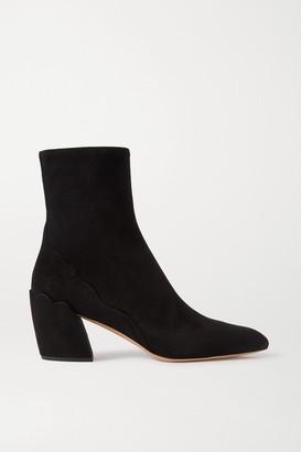 Chloé Lauren Suede Ankle Boots - Black