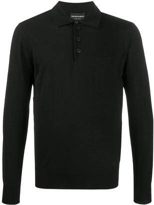 Emporio Armani Long Sleeve Polo Shirt