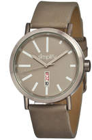 Simplify Unisex The 400 Grey Leather-Band Watch With Day&Date Sim0405