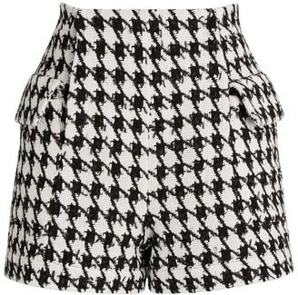 Balmain Houndstooth Tweed Shorts