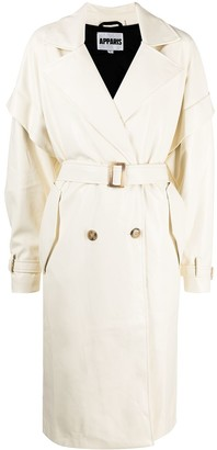 Apparis Natalia double-breasted midi coat