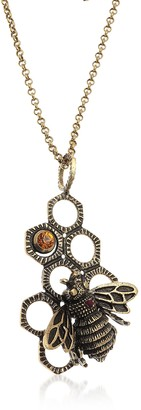 Alcozer & J Golden Brass Honey Necklace