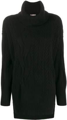 N.Peal longline roll neck knit jumper