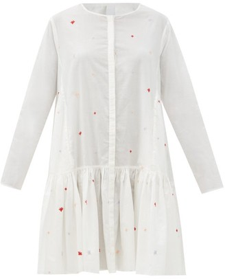 Merlette New York Martel Embroidered Cotton-lawn Dress - White Print