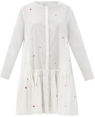Merlette New York Martel Embroidered Cotton-lawn Dress - White Print
