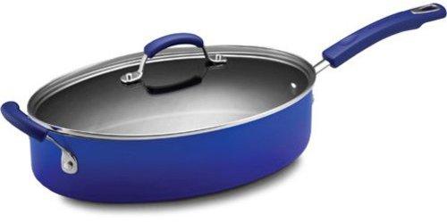 Rachael Ray 5-qt. Oval Nonstick Porcelain Enamel II Saute Pan, Blue Gradient