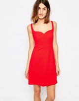 Warehouse Sweetheart Neck Bonded Dress