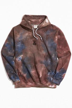 Urban Outfitters Bear Icon Tie-Dye Hoodie Sweatshirt
