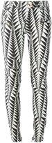 Balmain geometric print skinny jeans