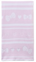 Kissy Kissy Pink Knitted Bow Blanket