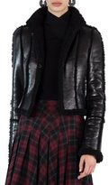 Akris Punto Shearling-Lined Open-Front Jacket
