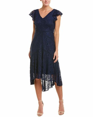Taylor Dresses Women's Ruffle Sleeve Lace Cocktail Dress